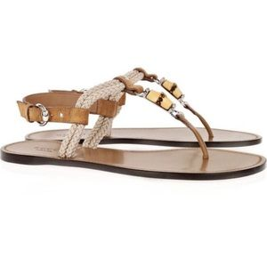 Authentic Gucci Bamboo Sandals Size 40